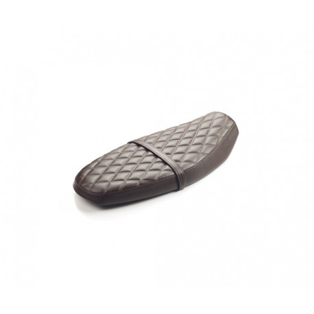 QUILTED SEAT  BROWN